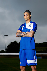 Daniel Leadbitter poses for a portrait as Bristol Rovers return to training ahead of their 2015/16 Sky Bet League Two campaign - Photo mandatory by-line: Rogan Thomson/JMP - 07966 386802 - 02/07/2015 - SPORT - Football - Bristol, England - The Lawns Training Ground, Henbury - Sky Bet League Two.