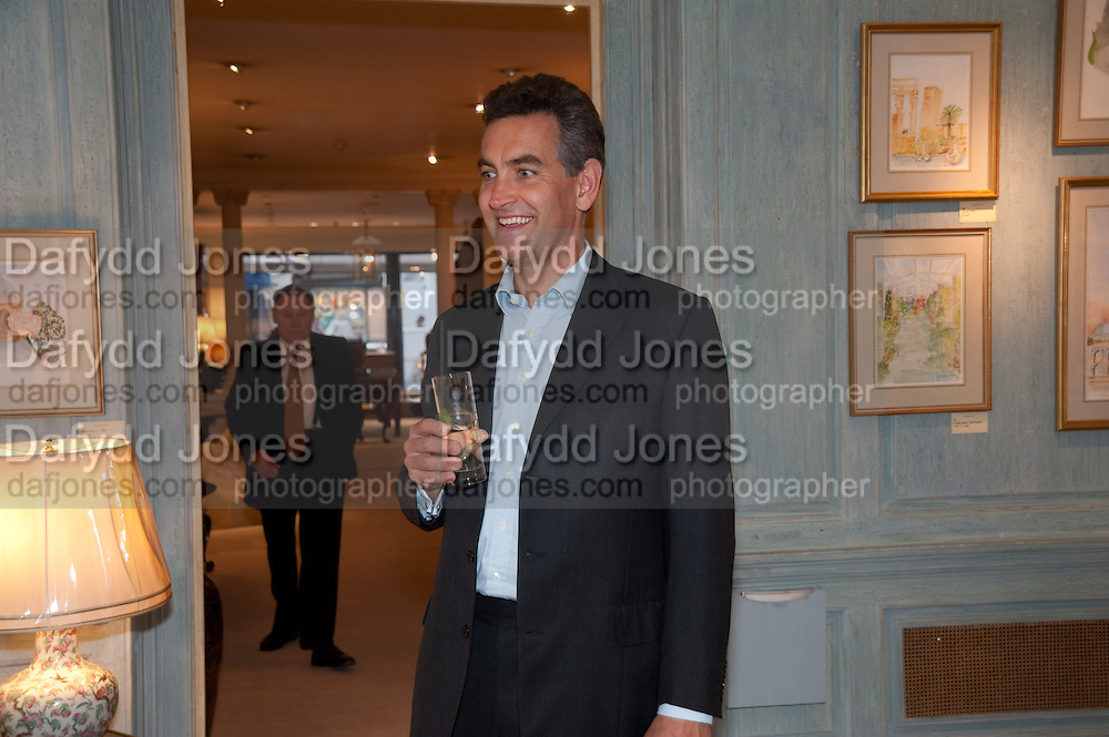 RICHARD MILLIKEN, An exhibition of watercolours by William Rayner at Mallet's, New Bond St. Party afterwards at Bellami's, bruton Place. London. 16 June 2010. .-DO NOT ARCHIVE-© Copyright Photograph by Dafydd Jones. 248 Clapham Rd. London SW9 0PZ. Tel 0207 820 0771. www.dafjones.com.