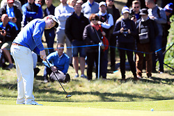 Scotland's Robert MacIntyre on the 7th green during day three of the Betfred British Masters at Hillside Golf Club, Southport.