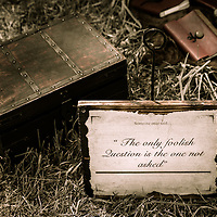 """""""Someone once said... The only foolish question, is the one not asked."""" <br /> A still life at the Hillsborough Living History Event All Content is Copyright of Kathie Fife Photography. Downloading, copying and using images without permission is a violation of Copyright."""