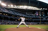 PHOENIX, ARIZONA - APRIL 30: CC Sabathia hits the 3000 strikeout milestone in his career in Phoenix, Arizona. (Photo by Sarah SachsArizona Diamondbacks)
