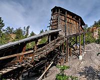 Aladdin Coal Mine Tipple. Aladdin Historical Interpretive Park, Cook County. Image taken with a Nikon D200 camera and 18-70 mm kit lens.