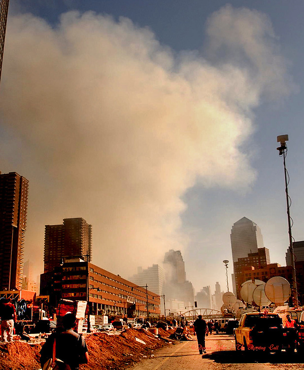 9/11 scenes in New York City on September 11, 2001 and at subsequent events relating to the terror attacks on the World Trade Centers in New York City, the Pentagon in Arlington, Virginia and at Shanksville, Pa..