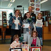 Prijsuitreiking kleurwedstrijd ABN - AMRO Naarderstraat Huizen