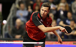 31.01.2016, Max Schmeling Halle, Berlin, GER, German Open 2016, im Bild Vladimir Samsonov (BLR) bei der Ballannahme // during the table Tennis 2016 German Open at the Max Schmeling Halle in Berlin, Germany on 2016/01/31. EXPA Pictures © 2016, PhotoCredit: EXPA/ Eibner-Pressefoto/ Wuest<br /> <br /> *****ATTENTION - OUT of GER*****