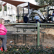 Lelia Gould, 6, of Beaufort, looks back towards her grandfather Jason Berry, not pictured, after seeing the closed Waterfront Park playground on February 17, 2014. The playground at Henry C. Chambers Waterfront Park in Beaufort will be closed this week for repairs, but is anticipated to re-open in time for the weekend, Beaufort leaders said.The problem is with the rubber matting designed to make for softer landings when children jump or fall from the playground equipment. The material is cracking and breaking apart in chunks, compromising the effectiveness of the fall zones, said Isiah Smalls, director of public works and facilities management for the City of Beaufort.