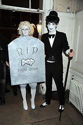 PHOEBE ARNOLD and ANDERS THOMSEN at a Halloween party hosted by Alexa Chung and Browns Focus held at the House of St.Barnabas, 1 Greek Street, London on 31st October 2008.