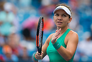 Simona Halep of Romania in action during her second-round match at the 2018 Western and Southern Open WTA Premier 5 tennis tournament, Cincinnati, Ohio, USA, on August 16th 2018 - Photo Rob Prange / SpainProSportsImages / DPPI / ProSportsImages / DPPI