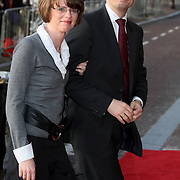 NLD/Amsterdam/20080201 - Verjaardagsfeest Koninging Beatrix en prinses Margriet, Andre Rouvoet en partner Liesbeth