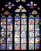 Stained glass window, Prague castle, Czech republic