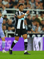 NEWCASTLE UPON TYNE, ENGLAND - SEPTEMBER 17: Joelinton of Newcastle United during the Premier League match between Newcastle United and Leeds United at St. James Park on September 17, 2021 in Newcastle upon Tyne, England. (Photo by MB Media)
