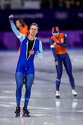 23-02-2018: Olympische Spelen: Dag 14: Pyeongchang<br /> 1000m Speedskating men / Zilver winnaar de Noor Havard Lorentzen