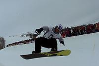 Snowboard, NM snøbrett halfpipe Geilo mars 2000. Daniel Franck.