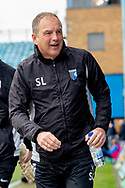 Gillingham FC manager Steve Lovell during the EFL Sky Bet League 1 match between Gillingham and Scunthorpe United at the MEMS Priestfield Stadium, Gillingham, England on 16 February 2019.