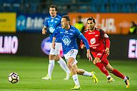 Fotball , 15 Oktober 2017 , Eliteserien , Molde - Brann , Mattias Moström , Deyver Vega<br /> <br /> <br />  , Foto: Marius Simensen, Digitalsport