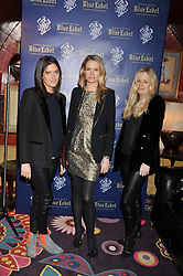 Left to right, VIOLET VON WESTENHOLZ, SOFIA WELLESLEY and ASTRID HARBORD at the Johnnie Walker Blue Label and David Gandy partnership launch party held at Annabel's, 44 Berkeley Square, London on 5th February 2013.