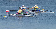 Sarasota. Florida PR1 M1X, medalist congratulate each other after their final.USA.Sunday Final's Day at the  2017 World Rowing Championships, Nathan Benderson Park<br /> <br /> Sunday  01.10.17   <br /> <br /> [Mandatory Credit. Peter SPURRIER/Intersport Images].<br /> <br /> <br /> NIKON CORPORATION -  NIKON D4S  lens  VR Zoom 70-200mm f/2.8G IF-ED mm. 640 ISO 1/5000/sec. f 4.5