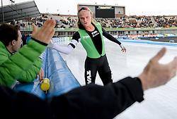 02-03-2014 SCHAATSEN: NK ALLROUND: AMSTERDAM<br /> Op de Coolste baan van Nederland, Olympische Stadion Amsterdam, werden de laatste ritten van het NK 2014 gereden / Koen Verweij Nederlands kampioen Allround<br /> ©2014-FotoHoogendoorn.nl
