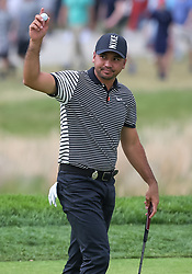 May 19, 2019 - Farmingdale, NY, U.S. - FARMINGDALE, NY - MAY 19: Jason Day of Australia is pictured on the 18th green during the Final Round of the 2019 PGA Championship, on the Black Course, Bethpage State Park, in Farmingdale, NY. (Photo by Joshua Sarner/Icon Sportswire) (Credit Image: © Joshua Sarner/Icon SMI via ZUMA Press)