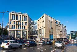 Exterior of new St James Quarter shopping and entertainment complex in Edinburgh, Scotland UK
