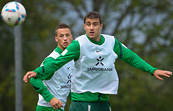 22.07.2011, Oeschberghof, Donaueschingen, Trainingslager 2011 GER, 1.FBL, Werder Bremen Trainingslager Donaueschingen 2011, im Bild Marko Arnautovic (Bremen #7) Sokratis Papastathopoulos (Bremen #22)..// during the trainings session from GER, 1.FBL, Werder Bremen Trainingslager Donaueschingen 2011 on 2011/07/22,  Oeschberghof, Donaueschingen, Germany..EXPA Pictures © 2011, PhotoCredit: EXPA/ nph/  Kokenge       ****** out of GER / CRO  / BEL ******