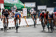 Arrival sprint Fabio Jakobsen (NED - QuickStep - Floors) winner, Max Walscheid (GER - Team Sunweb) , Pascal Ackermann (GER - Bora - Hansgrohe) during the Tour of Guangxi 2018, Stage 3, Nanning - Nanning (125,4 km) on October 18, 2018 in Nanning, China - photo Luca Bettini / BettiniPhoto / ProSportsImages / DPPI