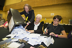 June 8, 2017 - Kendal, Cumbria, UK - Kendal UK. Ballot boxes have started to arrive in Kendal leisure centre for counting to begin in Tim Farron's constituency of Westmorland & Lonsdale. (Credit Image: © Andrew Mccaren/London News Pictures via ZUMA Wire)