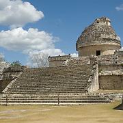 El caracol temple at Chichen Itza. Yucatan, Mexico.