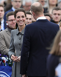The Duke and Duchess of Cambridge speak with supporters during a visit to Leicester City Football ClubÕs King Power Stadium to pay tribute to those who were killed in the helicopter crash last month.