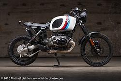 Juan Carlos Mercado's Soul Motorcycles custom BMW at the Handbuilt Show. Austin, TX, USA. April 8, 2016.  Photography ©2016 Michael Lichter.