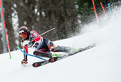 """Phil Brown (CAN) competes during 1st Run of FIS Alpine Ski World Cup 2017/18 Men's Slalom race named """"Snow Queen Trophy 2018"""", on January 4, 2018 in Course Crveni Spust at Sljeme hill, Zagreb, Croatia. Photo by Vid Ponikvar / Sportida"""