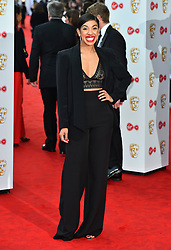 Pearl Mackie arriving for the Virgin TV British Academy Television Awards 2017 held at Festival Hall at Southbank Centre, London. PRESS ASSOCIATION Photo. Picture date: Sunday May 14, 2017. See PA story SHOWBIZ Bafta. Photo credit should read: Matt Crossick/PA Wire