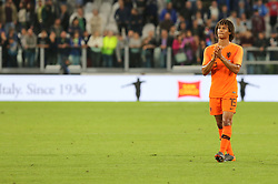 June 4, 2018 - Turin, Piedmont, Italy - Nathan Ak (Holland) greets the fans after the friendly football match between Italy and Holland at Allianz Stadium on June 04, 2018 in Turin, Italy. Final result: 1-1  (Credit Image: © Massimiliano Ferraro/NurPhoto via ZUMA Press)