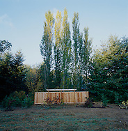 Wooden fence on Bainbridge Island in Washington State.