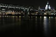 St Paul's, Cathedral, Millennium Bridge, London, River Thames