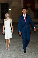 080714 Spanish Royals attend a Reception to the authorities of the Balearic Islands
