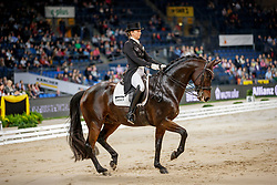 MÜLLER Lisa (GER), Gut Wettlkam's Stand By Me Old<br /> Stuttgart - German Masters 2019<br /> Preis der Firma Stihl<br /> Int. Dressurprüfung - CDI4*<br /> Aufgabe: FEI Grand Prix 2009, Rev. 2014<br /> Qualifikation zum Grand Prix Special<br /> 16. November 2019<br /> © www.sportfotos-lafrentz.de/Stefan Lafrentz