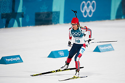 February 17, 2018 - Pyeongchang, SOUTH KOREA - 180217 Tiril Eckhoff of Norway competes in the  Women's 12.5km Mass Start during day eight of the 2018 Winter Olympics on February 17, 2018 in Pyeongchang..Photo: Petter Arvidson / BILDBYRN / kod PA / 87632 (Credit Image: © Petter Arvidson/Bildbyran via ZUMA Press)
