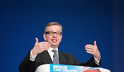 Rt Hon Michael Gove MP, Education minister during the Conservative Party Conference, ICC, Birmingham, Great Britain, October 9, 2012. Photo by Elliott Franks / i-Images.