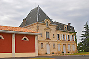 Chateau l'Evangile chateau building and distinctive red winery  Pomerol  Bordeaux Gironde Aquitaine France