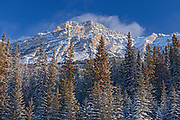 Mount Kerkeslin and the Canadian Rocky Mountains , Jasper National Park, Alberta, Canada