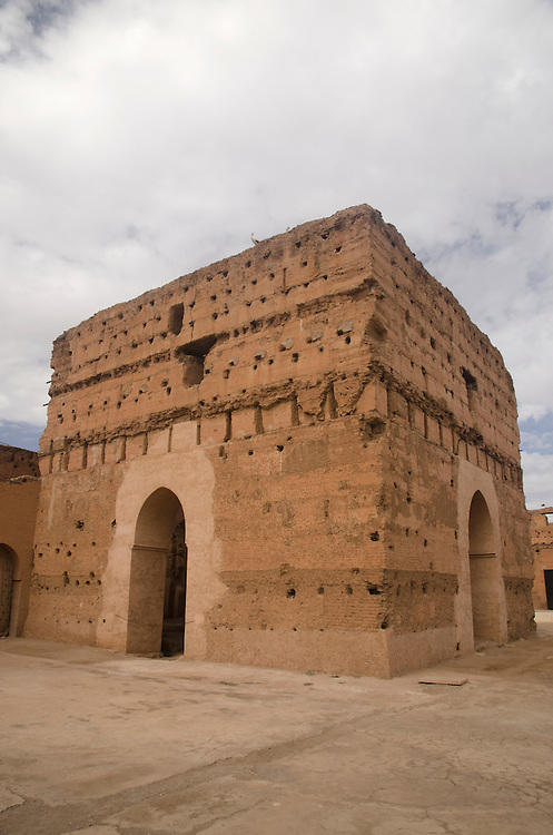 The ruins of Badii palace Marrakech Morocco