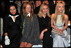 (L-R) Immodesty Blaize, Olivia Inge, Noelle Reno and Laura Whitmore attend the front row for the Bora Aksu  Spring/Summer 2013 show on the first day of the London 2012 Fashion Week, London, Friday September 14, 2012 Photo Andrew Parsons/i-Images..All Rights Reserved ©Andrew Parsons/i-Images