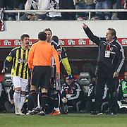 Besiktas's coach Bernd SCHUSTER (R) during their Turkish Superleague Derby match Besiktas between Fenerbahce at the Inonu Stadium at Dolmabahce in Istanbul Turkey on Sunday, 20 February 2011. Photo by TURKPIX