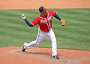 ATLANTA - JUNE 28:  Pitcher Peter Moylan #58 of the Atlanta Braves throws a pitch during the game against the Boston Red Sox at Turner Field on June 28, 2009 in Atlanta, Georgia.  The Braves beat the Red Sox 2-1.  (Photo by Mike Zarrilli/Getty Images)
