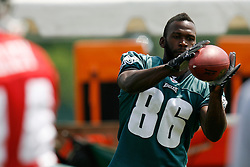 Bethlehem, PA - August 2nd 2008 - Wide Receiver reggie Brown pulls in a pass during the Philadelphia Eagles Training Camp at Lehigh University (Photo by Brian Garfinkel)