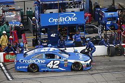 July 22, 2018 - Loudon, New Hampshire, United States of America - Kyle Larson (42) comes down pit road for service during the Foxwoods Resort Casino 301 at New Hampshire Motor Speedway in Loudon, New Hampshire. (Credit Image: © Justin R. Noe Asp Inc/ASP via ZUMA Wire)