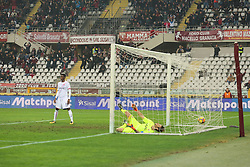 January 6, 2018 - Turin, Piedmont, Italy - Lorenzo De Silvestri (Torino FC, not in the picture) scores during the Serie A football match between Torino FC and Bologna FC at Olympic Grande Torino Stadium on 06 January, 2018 in Turin, Italy. (Credit Image: © Massimiliano Ferraro/NurPhoto via ZUMA Press)