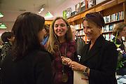 ALBA ARIKHA; AOIFE O'BRIEN Alba Arikha  book launch for 'Soon' , Daunt's Holland Park.. London. 17 September 2013.