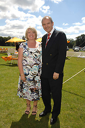 GRAHAM & MICHELLE BOYES he is MD of Veuve Clicquot, at the final of the Veuve Clicquot Gold Cup 2007 at Cowdray Park, West Sussex on 22nd July 2007.<br /><br />NON EXCLUSIVE - WORLD RIGHTS